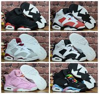 Wholesale youth basketball shoes cheap - 2018 Children's 6 VI Basketball Shoes Kids 6s Sports Boys Girls Youths Baby Athletic Sneakers Cheap For Sale