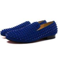 оригинальные бездельники оптовых-Роскошные дизайнерские мужские ботинки Rollerboy Spikes Loafers, платье для джентльменов, свадьба, вечеринка с красной подошвой
