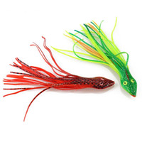 Wholesale soft head sea lure for sale - Group buy 1pc Soft Octopus Fishing Lures Jigs g cm Snake Head Sea Fishing Lure Artificial Jigging Bait
