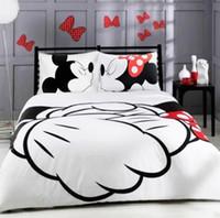 cubierta de niña de dibujos animados 3d al por mayor-Nueva Linda 3D de impresión digital de dibujos animados juegos de cama ropa de niña Loves Duvet cubierta con funda de almohada envío gratis