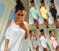 Wholesale Best Simple - Fashion Women Shirts Pure Sexy simple strapless blouses and multi-color T-shirt Beauty For Girls Breathable High Quality 99% Best Selected