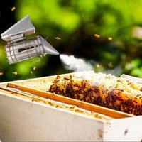 Wholesale green litter - iron galvanized Stainless Steel Bee Hive Smoker Galvanized Iron With Heat Shield Protection Beekeeping Tool Beekeeping Equipment