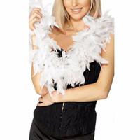 feather boas бесплатная доставка оптовых-2 м перо Боа полосы пушистый шарф женщины костюм необычные платья свадьба украшения шарфы Ladies14 цвета Бесплатная доставка F2