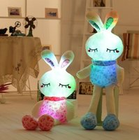 Wholesale led light monkey - 75cm LED Music Easter Bunny Doll Plush Rabbit Cute Stuffed Toys Colorful Bunny Light Plush Toys Girls' Valentine's Day Gifts CCA8900 20pcs