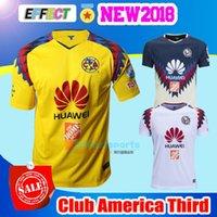 Wholesale Flash Football - Club America 2018 LIGA MX Chivas Soccer Jerseys New Third Yellowo 17 18 Rayados de Monterrey UNAM Tigres O.Peralta SAMBUEZA Football Shirts