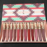 Wholesale Lipstick Vibe - M Vibe Tribe Lip Gloss Set Vibe Tribe 12pcs Lip Gloss Set Matte Lip Gloss Liqud Lipstick DHL Free Shipping
