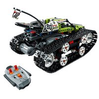 tijolos para carros de corrida venda por atacado-397 Pcs Série Technic RC Track Puzzle Jigsaw Controle Remoto Blocos de Construção de Carro de Corrida Tijolo Brinquedo
