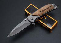 kahverengileşen 338 av bıçağı toptan satış-Browning 338 çakı 440C Blade Gülağacı Kolu Kamp Avcılık katlanır bıçaklar EDC Aracı kendini savunma hediye Xmax