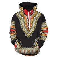 3d druck kapuzenpullis groihandel-Liebhaber Herbst-Winter-African 3D-Druck Langarm Dashiki Hoodies Sweatshirt Top Hoodies Sweatshirt lil Peep männlich