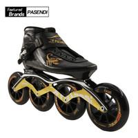 ingrosso pattini a rulli delle ruote sportive-Scarpe da skate a velocità professionale per adulti Scarpe da skate in linea a 4 ruote per adulti