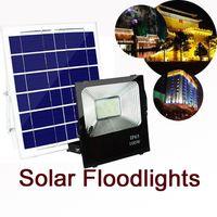 ip67 lumières achat en gros de-Projecteurs à énergie solaire, luminaire extérieur télécommandé IP67 Étanche, luminaire solaire de sécurité du crépuscule à l'aube pour la cour, barre