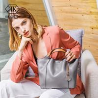 natürliche lederhandtaschen frauen großhandel-Echtes Leder Tasche Frauen Leder Handtasche Schultertasche für Frauen 2018 Einkaufstasche Natural Sac ein Haupt Damen Hand