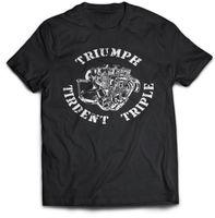смешные папочки t рубашки оптовых-Триумф Трайдент Тройная байкерская футболка Подарок дедушке, Смешная футболка