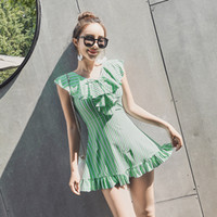 junge anzüge großhandel-Hot Spring Plus Size Strand Tragen Rock Junges Mädchen Badeanzug Kleid Blumendruck Badeanzüge