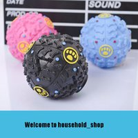 Wholesale blue toy train for sale - Group buy 2018 New Arrival Dog Interactive Toys Pet Puppy Sound ball leakage Food Ball Pet Chaw Training Toys Diameter cm