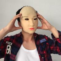 реалистичные женские латексные маски оптовых-Маскарад реалистичные 3D Маска все лицо латекс крышка головы реалистичные косплей маски женские праздничные атрибуты Бесплатная доставка 58yt Вт