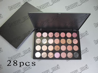 Wholesale eyeshadow logo - Free Shipping ePacket New Makeup Eye No Logo Large Box 28 Color Eyeshadow!