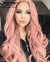 Wholesale full wigs blue resale online - Premier Wigs A Color Full Lace Human Hair Wigs Natural Wave Brazilian Virgin Hair Pink Red Purple Green Blue Colors Lace Wigs