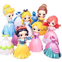 ingrosso bjd bambole per-DHL 11CM Dolls con biberon American PVC Kawaii Giocattoli per bambini Anime Action Figures Realistic Reborn Dolls per bambini giocattoli ragazze