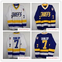 Wholesale full shoot - men's #7 REGGIE DUNLOP CHARLESTOWN JERSEY SLAP SHOT SlapShot movie hockey jerseys