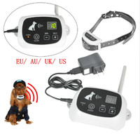 Wholesale electronic remote dog training collar - Wireless Dog Fence Remote Pet Training Collar Electronic Containment System Waterproof and Rechargeable KD-661