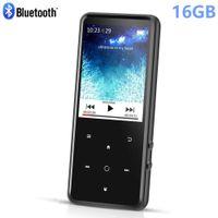 altavoces de música al por mayor-Bluetooth MP4 reproductor de música 16GB Tecla táctil Tecla incorporada de 2.4 pulgadas TFT en color con radio FM, soporta tarjetas SD de hasta 128 GB