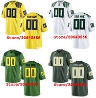 camiseta de fútbol juvenil verde al por mayor-Barato personalizado Oregon Ducks College jersey Mens Mujeres Juventud Niño Personalizado Cualquier número de cualquier nombre cosido verde blanco jerseys de fútbol