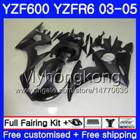 negro mate r6 yamaha al por mayor-Cuerpo para YAMAHA Mate negro stock YZF600 YZF R6 03 04 05 YZFR6 03 Carrocería 228HM.11 YZF 600 R 6 YZF-600 YZF-R6 2003 2004 2005 Fairings Kit