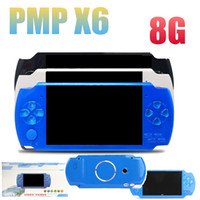 videos mp3 mp4 al por mayor-1 UNIDS Alta Calidad 8GB 4.3 Pulgadas PMP Consola de Juegos Compatible con Reproductor de MP3 MP4 Reproductor de Video MP5 E-libro Cameria Can Store 1000 Juegos