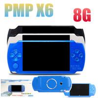 игры mp4 mp5 оптовых-Высокое качество 8 ГБ 4,3 дюйма ручной PMP игровой консоли поддержка MP3 MP4 MP5 плеер видео электронная книга Cameria может хранить 1000 игр