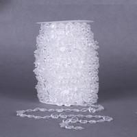 cortinas de cristal guirlanda venda por atacado-1 rolo Acrílico Cristal Bead Curtain 33FT Guirlanda de Diamante De Cristal Acrílico Bead Curtain Wedding DIY Decoração Do Partido para casa