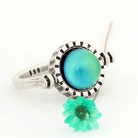 Wholesale womens rings sale - Simple Rotatable Mood Ring Womens Gift Change Color Stone Ring for Sale Size 7 8 9