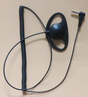 kulaklık kulak tıkaçları toptan satış-10x1 Pin 3.5mm Jack Fiş D Şekli Kulak-kanca Kulaklık Kulaklık Kulaklık Hoparlör Için Mic ICOM Kenwood Motorola Taşınabilir Radyo Walkie Talkie
