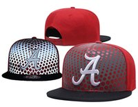 pink gray snapback 2018 - Good Quality Men's Leather Alabama Crimson Tide NCAA Snapback Hats In Gray Color USA College Letter A Logo burgundy red Adjustable Caps