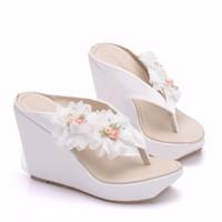 geldbörse passende schuhe großhandel-Heiße Frau Sandalen Schuhe böhmischen Sandalen komfortable süße Keilabsatz Schuhe für Mädchen mit passenden Taschen mit Geldbeutel