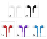 Wholesale earbuds for s4 resale online - Earphone In Ear Headset Stereo With Mic And Remote Headphone For S7 S6 S5 S4 mm Twins Earbuds No Retail Package