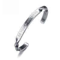 ingrosso braccialetto d'argento d'argento dell'annata-Braccialetti del braccialetto del cavo del filo degli uomini dell'acciaio inossidabile di colore d'argento dell'annata degli uomini del braccialetto per i monili maschii dei ragazzi