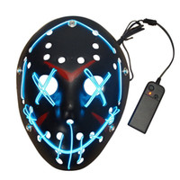 party mask light up neon skull led mask for halloween party concert scary party theme play day series masks for new year