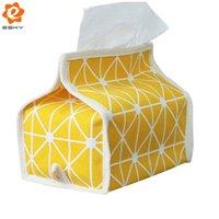 бумага закка оптовых-Японский стиль крыша ткань салфетка коробка ткани бумажное полотенце чехол для хранения чехол держатель Zakka холст нетканые бытовые коробки ткани