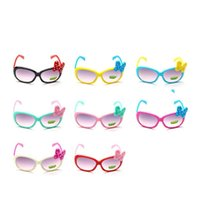 Wholesale cute baby girl sunglasses online - Cartoon Cute Plastic Glasses Colorful Big Bow Design Driver Goggles For Baby Decoration Sunglasses Factory Direct Sale gd BB
