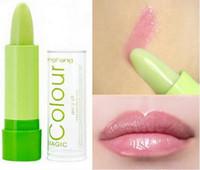 renk sihirli makyaj toptan satış-Süper Fırsatlar Dudak Bakımı Kadın Ağız Bakımı Sihirli Renk Değişen Ruj dudak balsamı Makyaj Meyveli Nemlendirici Ruj Ücretsiz Kargo