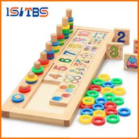 Wholesale notebook wood resale online - 2018 Hot Sale Children Wooden Montessori Materials Learning To Count Numbers Matching Early Education Teaching Math Toys