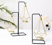 Wholesale table decorations candles resale online - Nordic Luxury Light Candle Holder Metal Table Romantic Wedding Candlelight Dinner Props Crative European Decorations Ornaments Candle Holder