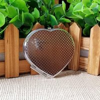 espelho de maquiagem coração venda por atacado-DIY metal Maquiagem coração espelhos em forma de transferência Hermal Impressão em branco Espelho Cosmético Para Presente Heat Transfer consumíveis 2 3xz ff