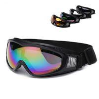 snowmobile eyewear großhandel-Schwarz Rahmen Schneebrille Winddicht Anti-Fog Motorrad Schneemobil Skibrille Eyewear Outdoor Sports Schutzbrille