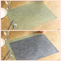 Wholesale Table Dishes - Diamond Weave PVC Table Mat Insulated Non-Slip Pads Quick Dry Placemats Dish Kitchen Home Tableware Pads AAA53