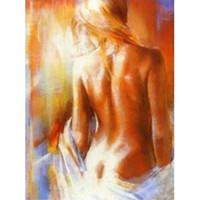 photos nue sexy achat en gros de-Peint À La Main Sexy Nude Peinture À L'huile Moderne Abstrait Mur De Toile Art Décor À La Main À La Main Nue Femmes Peintures Image
