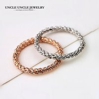 Wholesale Finger Screw - Simple Woman Knuckle Ring Rose Gold Color Screw Flower 2mm Lady Fashion Finger Tail Ring (Gold Silver) Wholesale