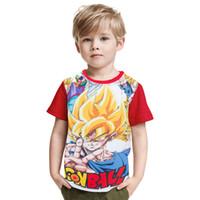 милый мяч дракона z оптовых-Новейшая футболка Cute Kid Goku 3D для детей DBZ футболки для мальчиков Повседневная футболка Аниме Dragon Ball Z Супер саянская футболка для мальчиков