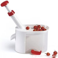 Wholesale plastic kitchen containers - Cherry Corer Container Cherry Olive Pits Pitter Stone Seed Remover Machine Easy Operation Kitchen Tool